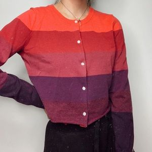 purple toned cropped sweater